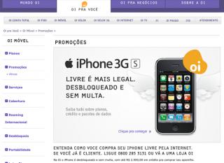 iPhone: na Oi é bem mais caro